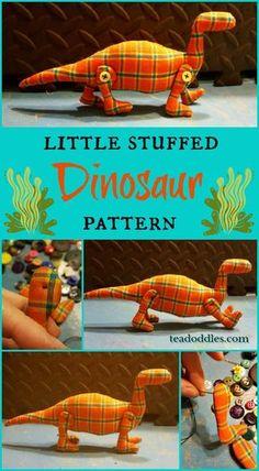 Little Stuffed Dinosaur Pattern ~ Teadoddles