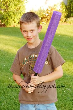 PVC Lightsaber/Sword-Here is what you will need to make one:     swim noodle   26 inch length of 1/2 inch PVC pipe   1/2 inch PVC end cap   electrical tape   knife or hacksaw for cutting pipe and swim noodle