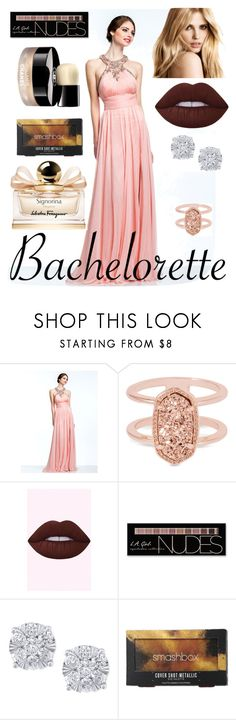 """""""the rose slayer"""" by samantharedxoxo ❤ liked on Polyvore featuring Kendra Scott, Charlotte Russe, Effy Jewelry, Chanel, Smashbox and Salvatore Ferragamo"""