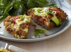 Italian-style crumbed beef schnitzel by Chelsea Winter. Looks delicious!! Must try soon.