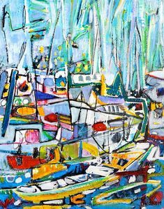 Christy Sverre paints inspiring and unique semi-abstracts. Her art is found in private collections in Canada, United States, Norway, France and Singapore. Nautical Art, Norway, Canvas, Abstract, Painting, Inspiration, Tela, Biblical Inspiration, Painting Art