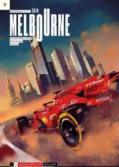 Scuderia Ferrari Australian Grand Prix - cover art by Gianmarco Veronesi - season 2019 F1 Racing, Drag Racing, F1 Wallpaper Hd, Wallpapers, Gp F1, Ferrari F12berlinetta, Automobile, Australian Grand Prix, Melbourne