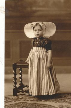 Typical girl from Zeeland around 1920's.
