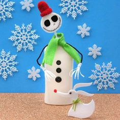 Jack Skellington Tabletop Snowman