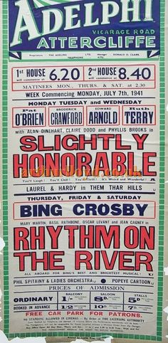 A Poster for the Adelphi Picture Theatre, Sheffield for the week of Monday the of July, 1941 - Courtesy Ian Cowell. Sheffield Pubs, Cinema Theatre, South Yorkshire, Theatres, Pinterest Marketing, Old And New, Social Media Marketing, England, Posters