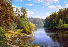 """""""🎨 Sergey Basov 🎨 Beauty in Art 🌍"""" Pictures To Paint, Nature Pictures, Art Pictures, Beautiful Pictures, Watercolor Landscape, Landscape Art, Landscape Paintings, Paintings I Love, Nature Paintings"""