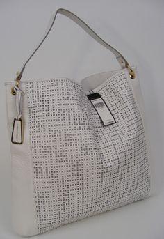 BCBG Maxazria Leather Floral Tote Bag