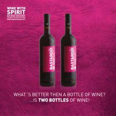 WHATS BETTER THAN ONE BOTTLE OF WINE? IS TWO BOTTLES OF WINE!  **** www.winewithspirit.net  #WineWithSpirit #Bastardo #vinho #portugal #wine
