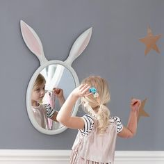Alice in Wonderland Themed Nursery Bunny Room, Bunny Nursery, Girl Nursery, Girl Room, Themed Nursery, Nursery Themes, Kids Mirrors, Wall Mirrors, Girls Mirror