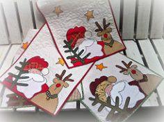 TriLhO DeMeSa (DoNa BoRbOlEtA. pAtCh) Tags: natal handmade noel application patchwork aplicao renas quiltlivre trilhodemesa donaborboletapatchwork denyfonseca
