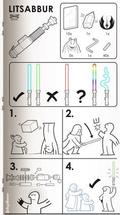 If IKEA Made Manuals For Items In Sci-Fi Movies… - DesignTAXI.com