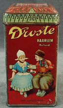 vintage Droste's Dutch Cocoa tin with children...my mom and grandma used this chocolate for years. It is the best!