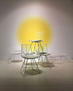 Light and sun at Arper's booth Milano 2016. Leaf chairs by lievore altherr molina.