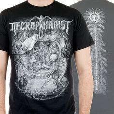 """Necrophagist+""""Mors""""+T-Shirt+at+https://www.indiemerchstore.com/"""