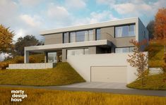 Houses On Slopes, Luxury Modern Homes, Modern Villa Design, Architect House, Home Fashion, Bauhaus, Wall Colors, Interior Architecture, My House