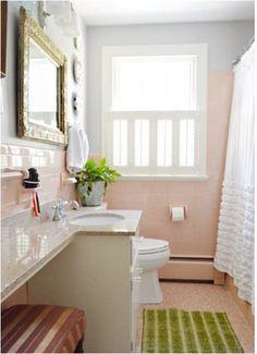 Centsational Blog Archive Solutions For Ers Bathrooms Pink Bathroom Tilesgreen
