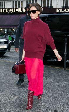 How to wear red: Victoria Beckham