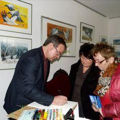 Frank Koebsch malt in der Ausstellung – Frühling im Land in Bad Sülze (c) Bert Preikschat (2)