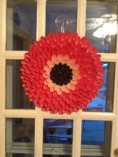 My Spring Wreath, made out of plastic spoons.