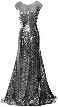 MACloth Women Mother of Bride Dresses Cap Sleeves Sequin Bridesmaid Formal Gown Sequin Bridesmaid, Sequin Gown, Cap Dress, Formal Gowns, Collar, Cap Sleeves, Sequins, Prom Dresses, Wedding Ideas