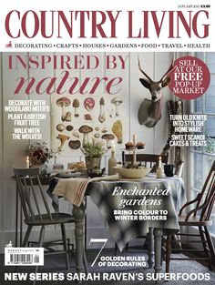 Country Living magazine January 2015 cover countryliving.co.uk