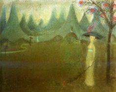 Jan Zrzavý, Údolí smutku (1907) kresba pastel