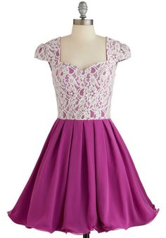 Loganberry Beautiful Dress in Purple. You look so very beautiful in this A-line dress as you snap a pic of your famous loganberry pie! #gold #prom #modcloth