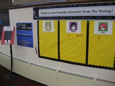 HCHS Celebrates Teen Read Week 2014 with an interactive display for our upcoming author visit!