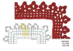 free pattern - Crochet border chart #133 from Gallery.ru
