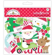 Doodlebug Design Christmas Here Comes Santa Claus Collection Scrapbook Odds…