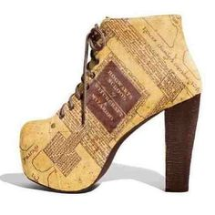 They look like jeffery campbell boots with the marauders map from the harry potter movies designed on them ....I need them in my life!