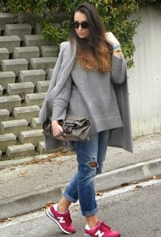 70 ideas for fashion winter chic sneakers, – Tennis Shoe Outfit Winter Chic, Chic Winter Outfits, Casual Outfits, Outfit Winter, New Balance Outfit, Sneaker Outfits, New Balace, Look Fashion, Winter Fashion