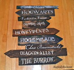 DIY Harry Potter Sign Post
