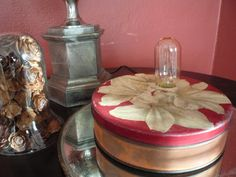 Vintage Floral Tin Upcycled to a Lamp by TroveMagpie on Etsy $10