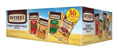 Snyder's of Hanover Pretzel Variety Pack, 36 Count > A special product just for you to view. See it now! : Groceries