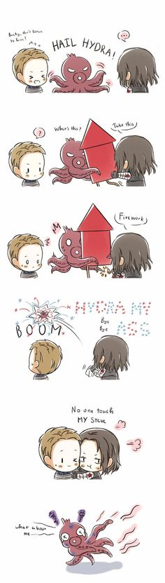 art by kuro-lee-nest Bucky knows what's up ~ #saynotoHydraCap #sayitaintso