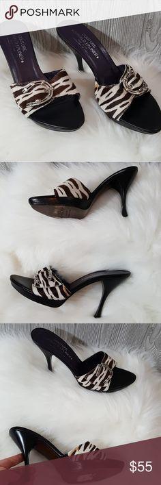 8.5 m Couture Donald J. Pliner zebra print heel Excellent lightly used condition! Very pretty heel. Donald J. Pliner Shoes Heels