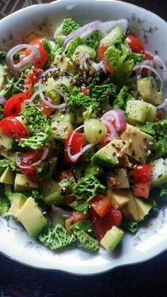 Avocado salad Vegan Raw food Salad Healthy