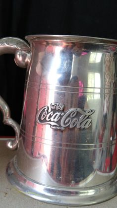 Hand crafted Pewter in Sheffield England Coca Cola Mug