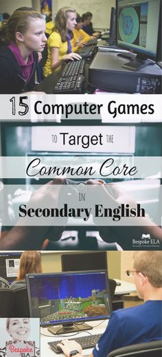 In this blog article from Bespoke ELA, you will find a list of 15 computer games that target Common Core skills in secondary English Language Arts for grades 6-12.  This blog also discusses the criteria for selecting high quality games and a rationale for using games as assessment.  Great for middle school and high school English Language Arts.  by Bespoke ELA