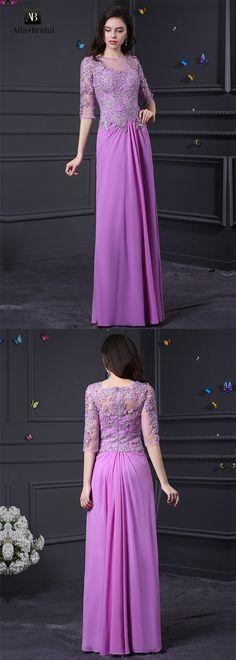 Elegant chiffon and tulle bateau neckline a-line prom dresses. You'll own it for many occasion. (SOD28274) - Adasbridal.com