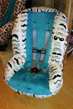Where's My 'Stache Toddler Car Seat Cover by sewcuteinaz on Etsy, $40.00    SO CUTE! Maybe w/ a diff colored middle :)