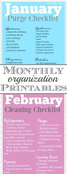 Free home organization printables for each month of the year!! Broken up into different areas it's super helpful so you don't get overwhelmed.
