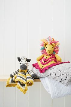 Send baby off to sleep under the close watch of these crochet animals. Crochet pattern in Mollie Makes 69                                                                                                                                                                                 More
