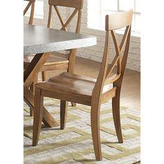 Keaton Maple Rubberwood X-back Side Chair