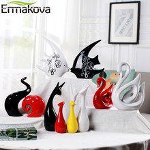 ERMAKOVA Ceramics Animal Elephant Sculpture Porcelain Ornaments Deer Crafts Art Figurine Home Office Desktop Decoration Gift Decoration, Art Decor, Home Decor, Wall Hanging Shelves, Wall Shelving, Shelf Wall, Deer Ornament, Elephant Sculpture, Office Desktop
