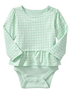 just ordered this for my pumpkin Nora ... Peplum long-sleeve body double | Gap