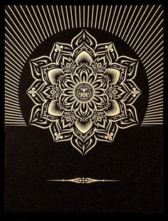 "Shepard Fairey - ""Obey Lotus Diamond""  #silkscreen #print"