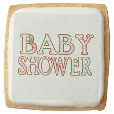 Shabby Chic Cookies Square Premium Shortbread Cookie