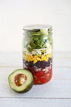 5 easy salad in a jar lunch ideas!